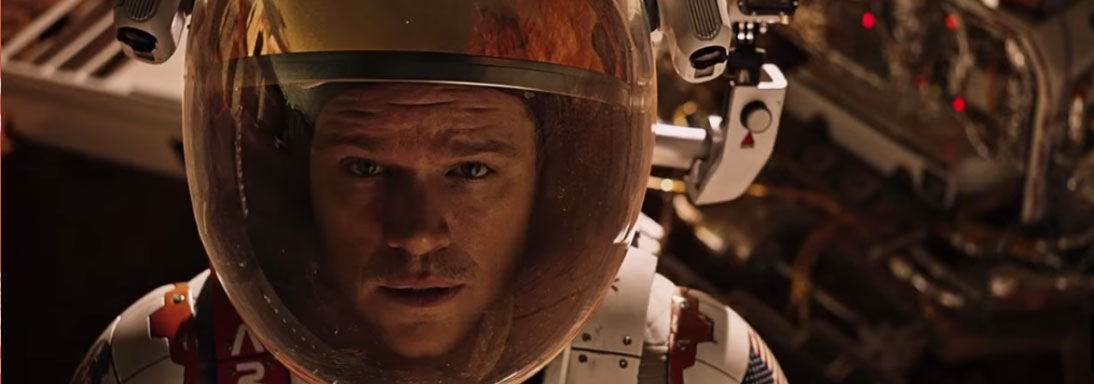 Attore famoso Matt Damon in the martian